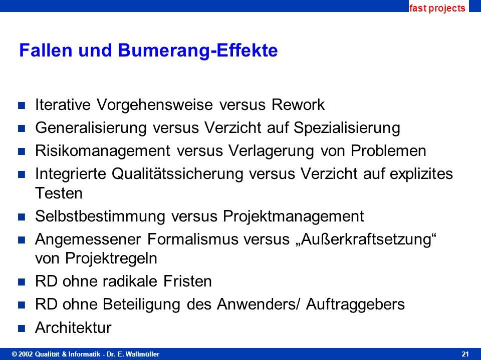 Fallen und Bumerang-Effekte