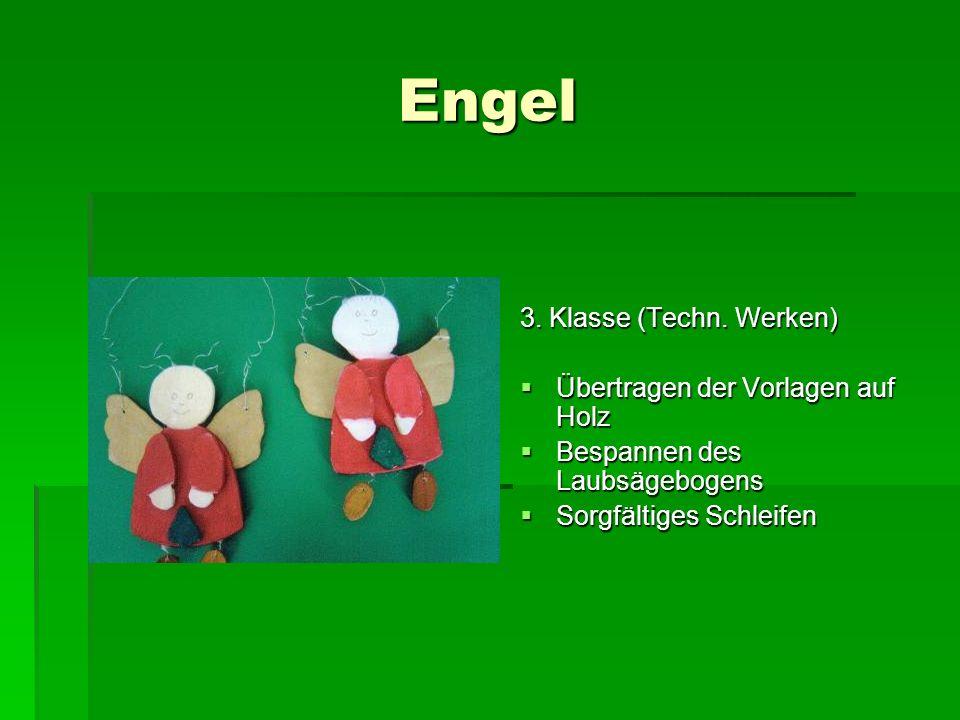 Engel 3. Klasse (Techn. Werken) Übertragen der Vorlagen auf Holz