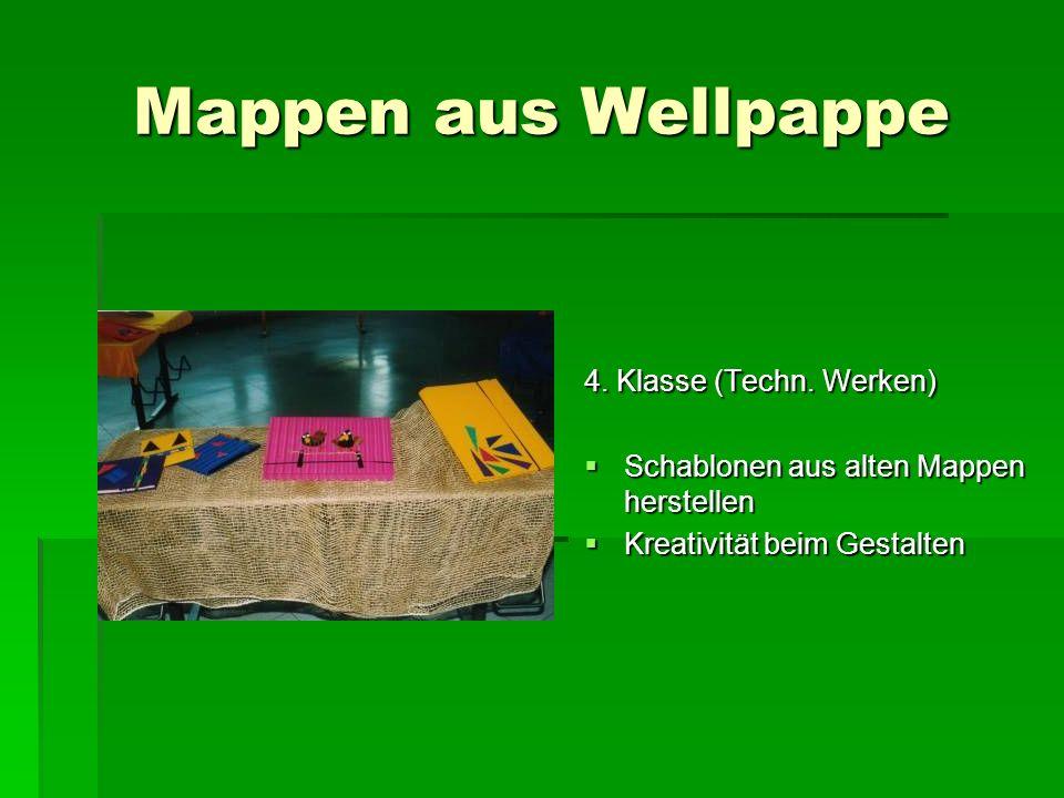 Mappen aus Wellpappe 4. Klasse (Techn. Werken)