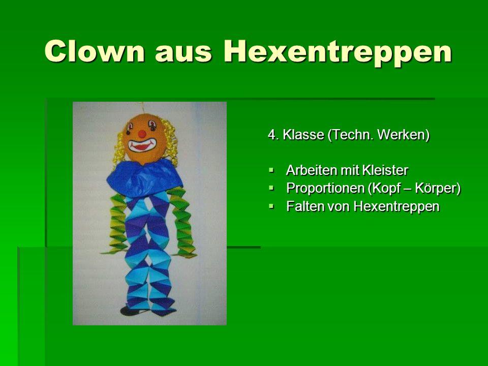 Clown aus Hexentreppen