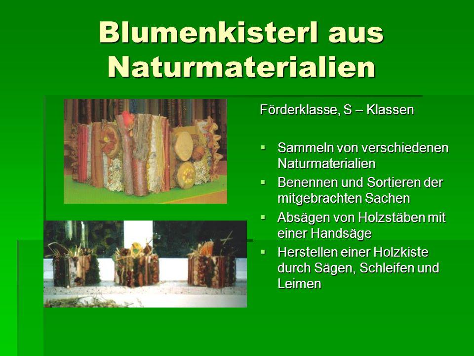 Blumenkisterl aus Naturmaterialien