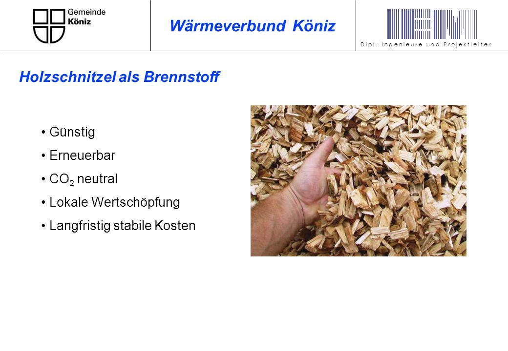 Wärmeverbund Köniz Holzschnitzel als Brennstoff • Günstig • Erneuerbar