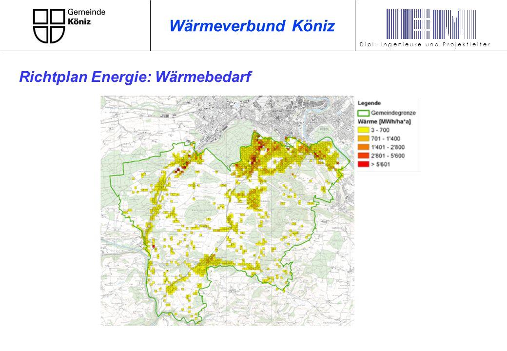 Wärmeverbund Köniz Richtplan Energie: Wärmebedarf