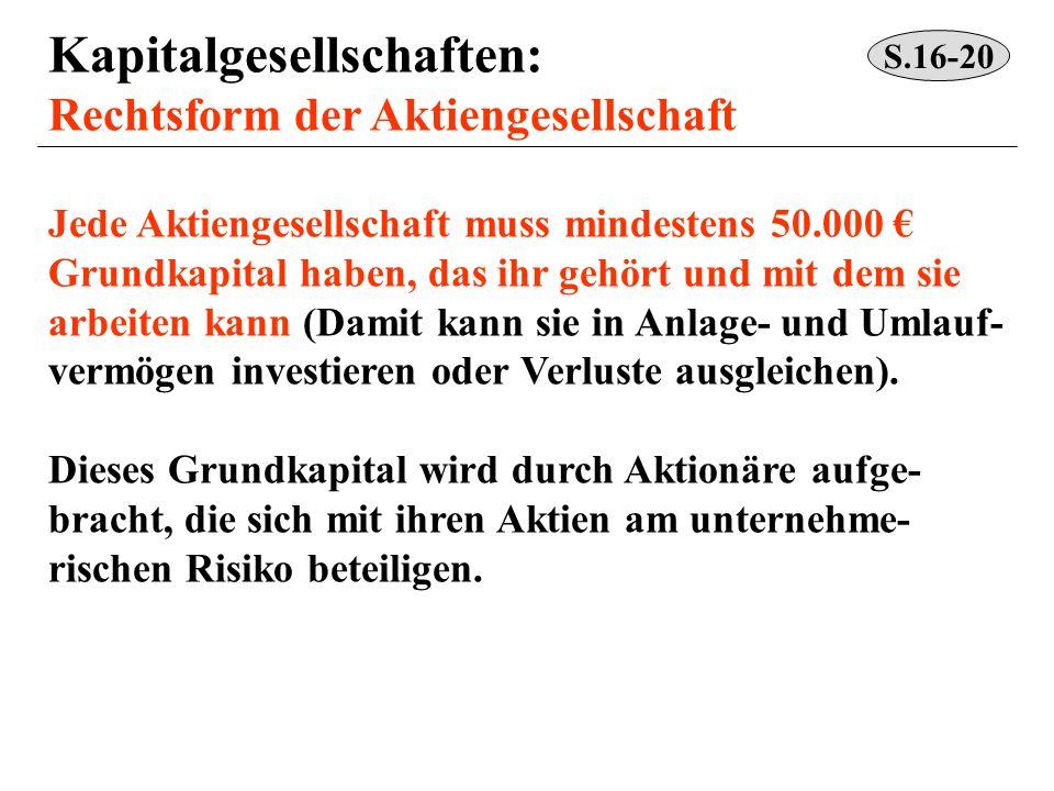 Kapitalgesellschaften: