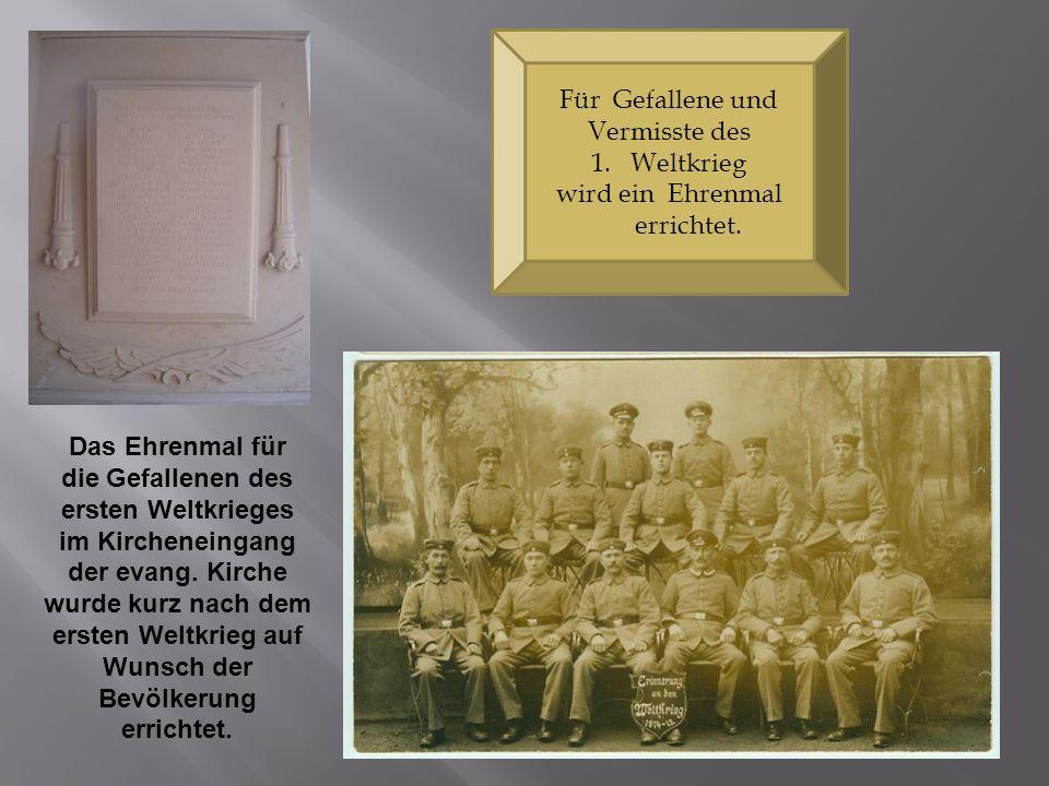die Gefallenen des ersten Weltkrieges