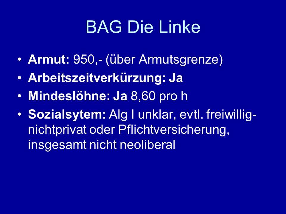 BAG Die Linke Armut: 950,- (über Armutsgrenze)