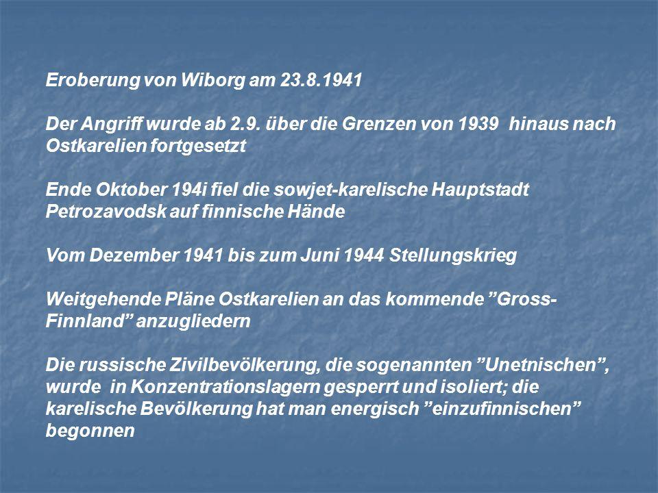 Eroberung von Wiborg am 23.8.1941