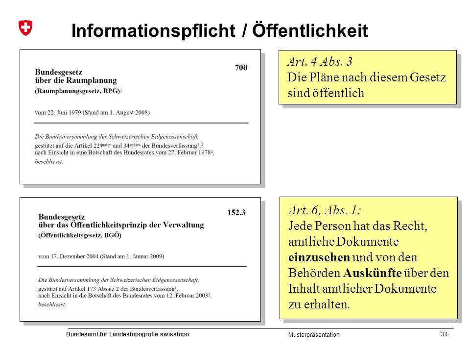 Informationspflicht / Öffentlichkeit