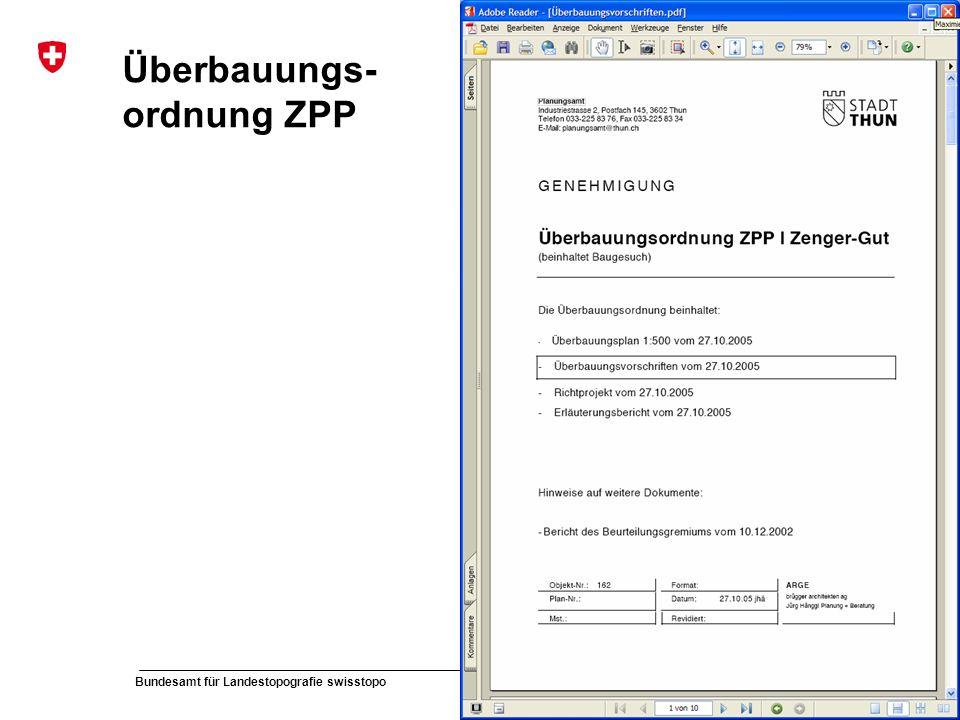 Überbauungs-ordnung ZPP