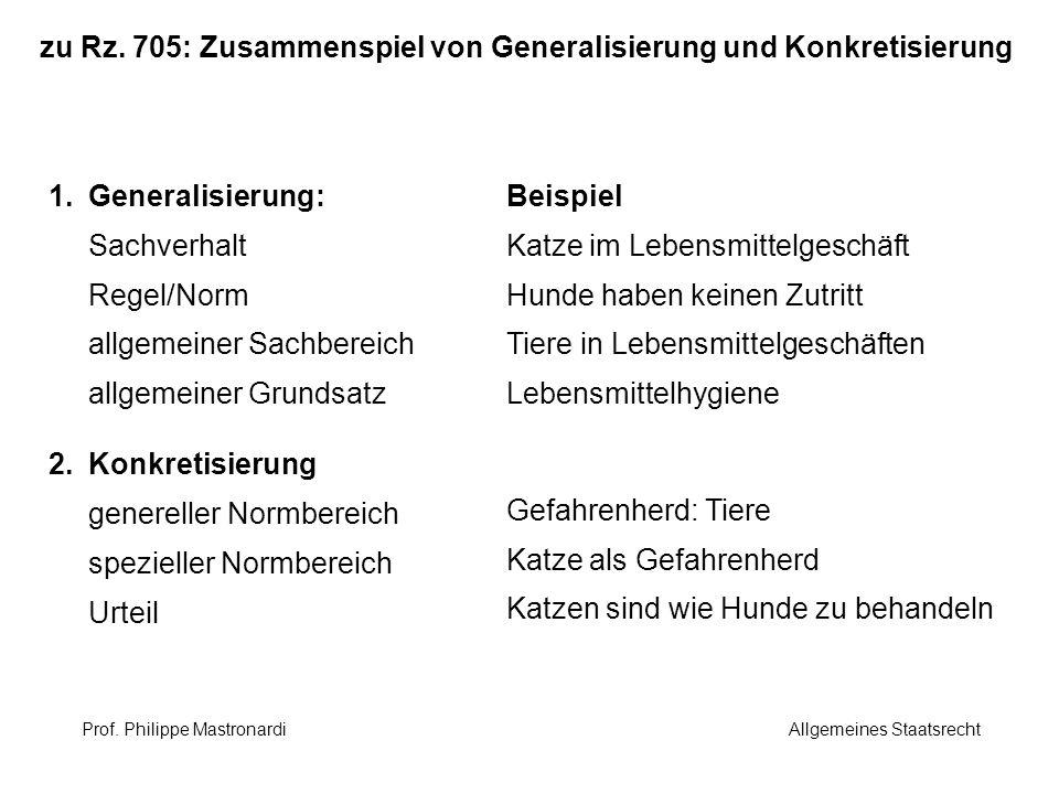 zu Rz. 705: Zusammenspiel von Generalisierung und Konkretisierung