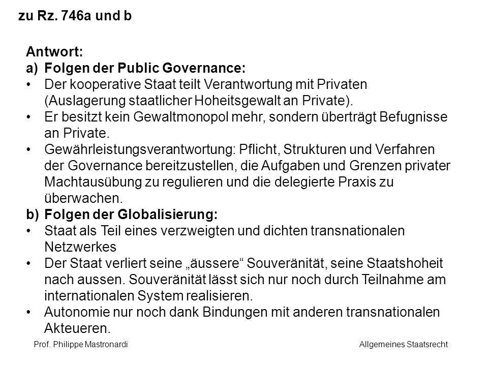 Folgen der Public Governance: