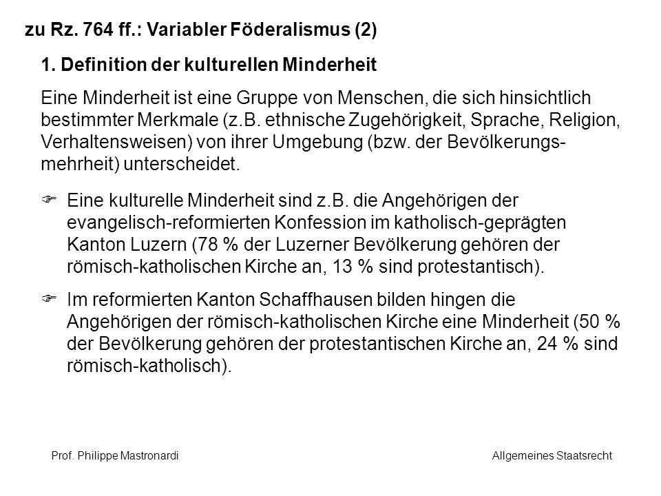 zu Rz. 764 ff.: Variabler Föderalismus (2)