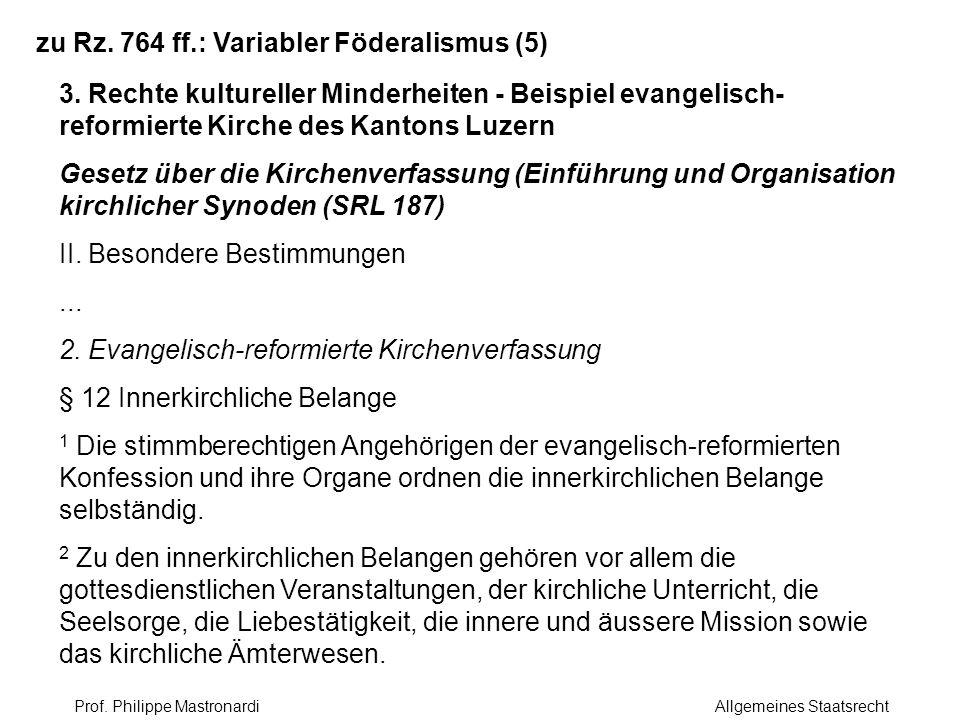 zu Rz. 764 ff.: Variabler Föderalismus (5)