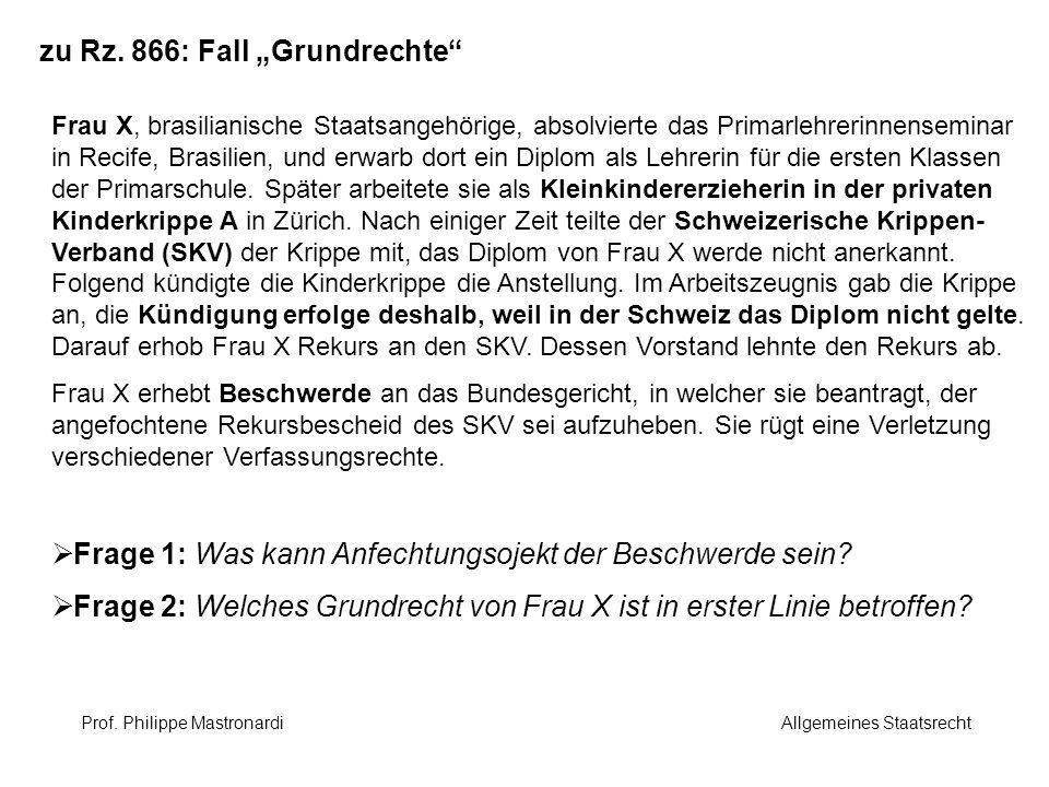 """zu Rz. 866: Fall """"Grundrechte"""