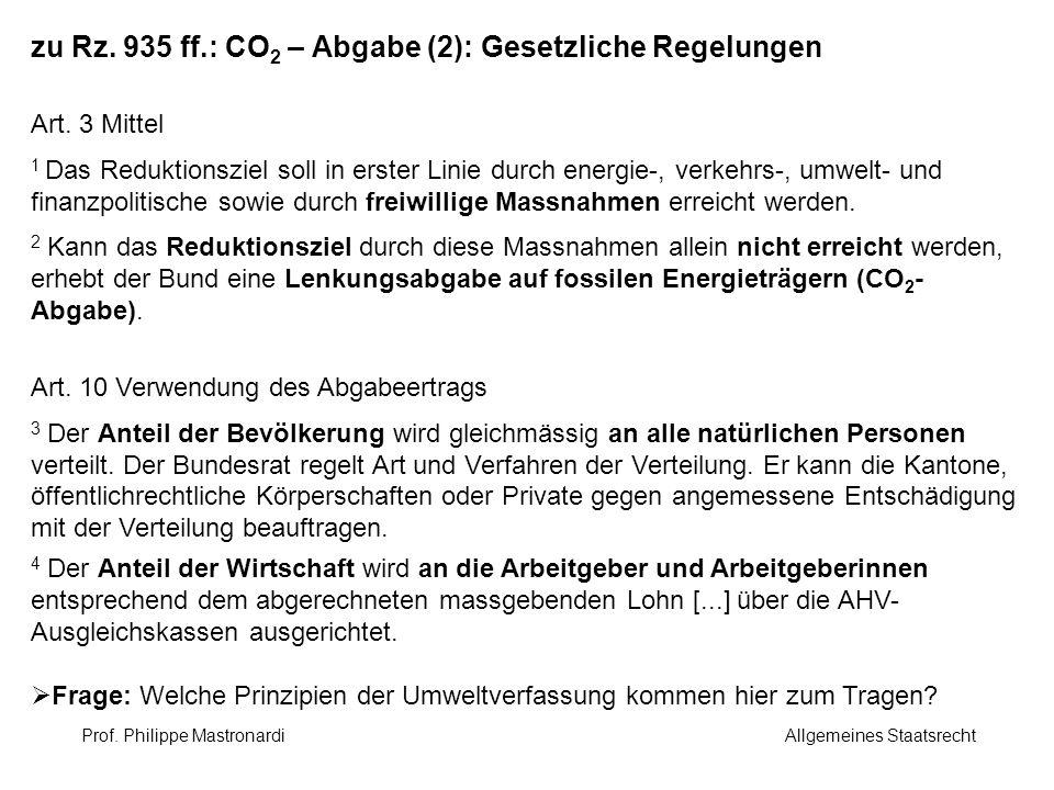 zu Rz. 935 ff.: CO2 – Abgabe (2): Gesetzliche Regelungen
