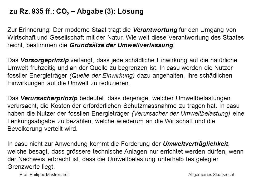 zu Rz. 935 ff.: CO2 – Abgabe (3): Lösung