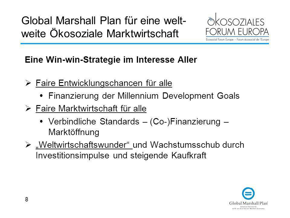 Global Marshall Plan für eine welt-weite Ökosoziale Marktwirtschaft