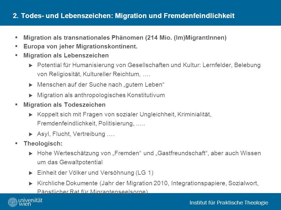 2. Todes- und Lebenszeichen: Migration und Fremdenfeindlichkeit
