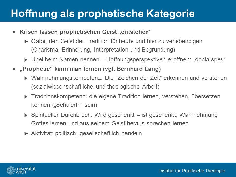 Hoffnung als prophetische Kategorie