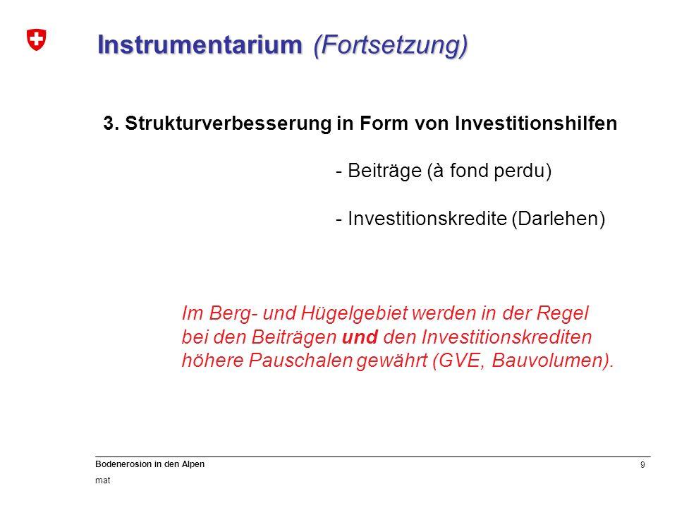 Instrumentarium (Fortsetzung)
