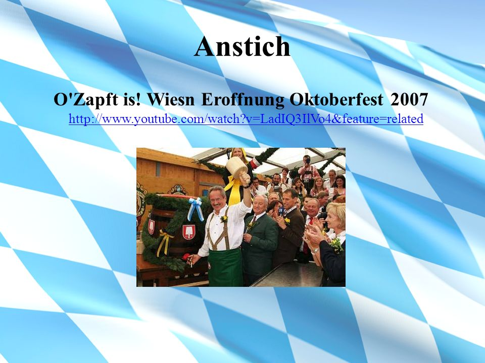 Anstich O Zapft is.