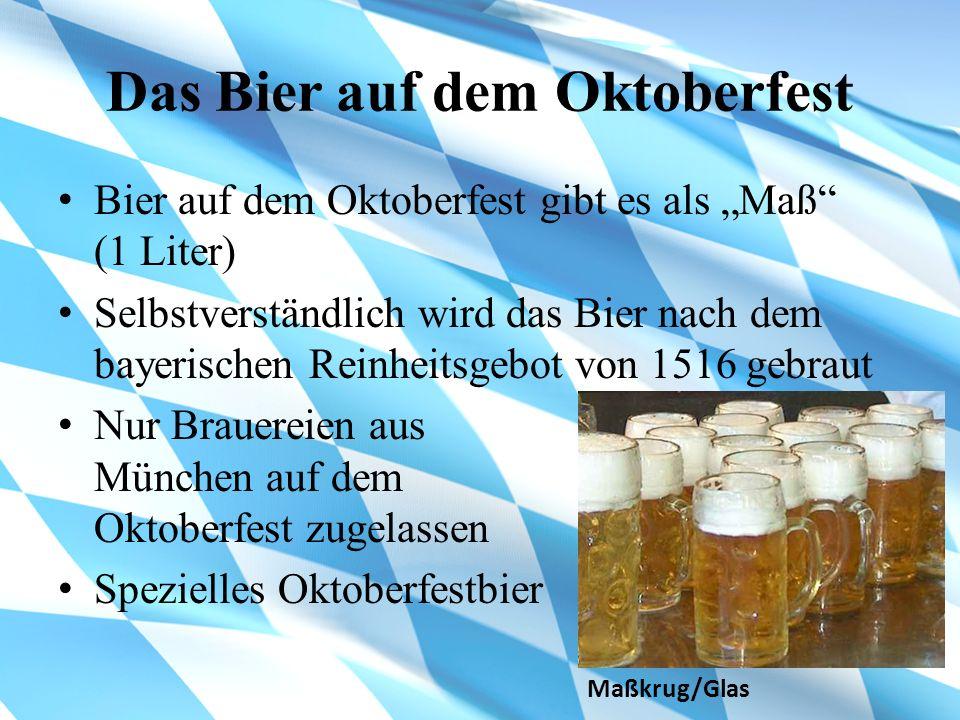 Das Bier auf dem Oktoberfest