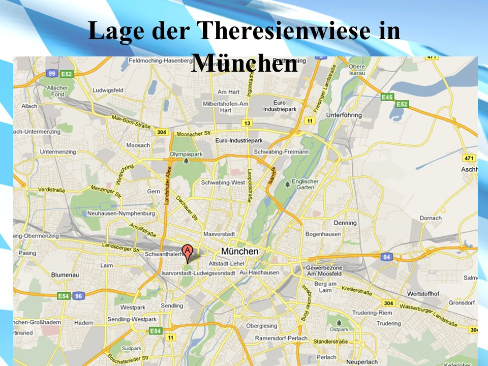Lage der Theresienwiese in München