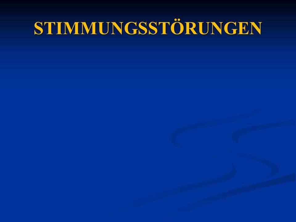 STIMMUNGSSTÖRUNGEN