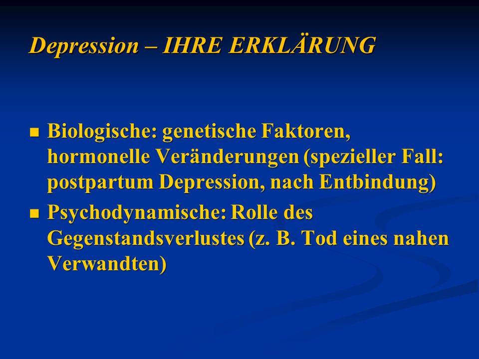 Depression – IHRE ERKLÄRUNG