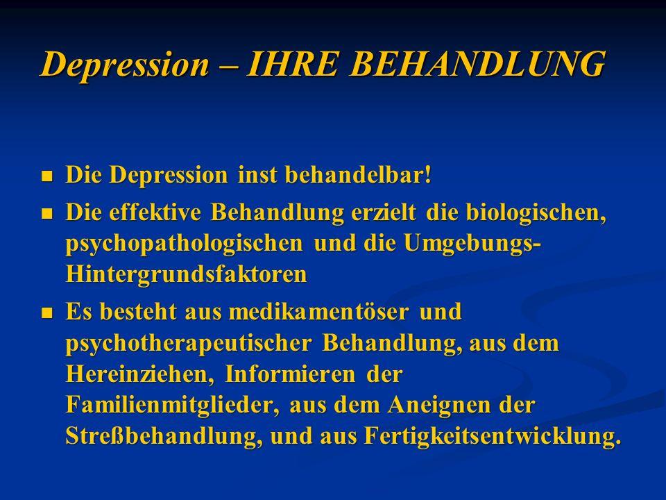 Depression – IHRE BEHANDLUNG