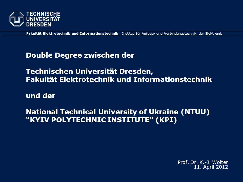 Prof. Dr. K.-J. Wolter 11. April 2012
