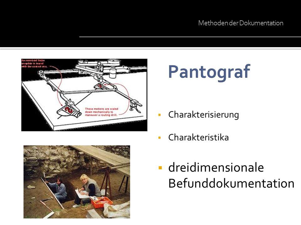 Pantograf dreidimensionale Befunddokumentation Charakterisierung