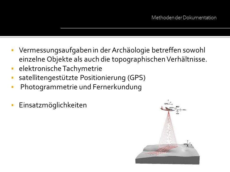 elektronische Tachymetrie satellitengestützte Positionierung (GPS)