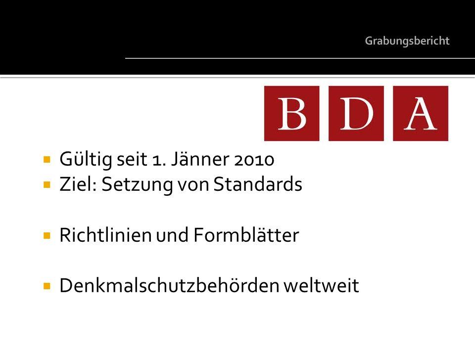 Ziel: Setzung von Standards Richtlinien und Formblätter