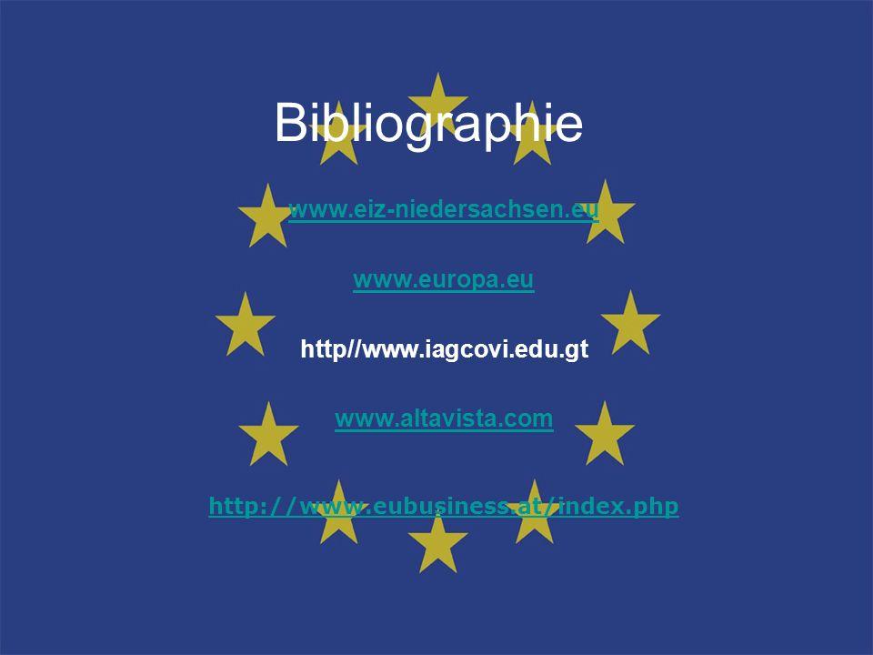 Bibliographie www.eiz-niedersachsen.eu www.europa.eu