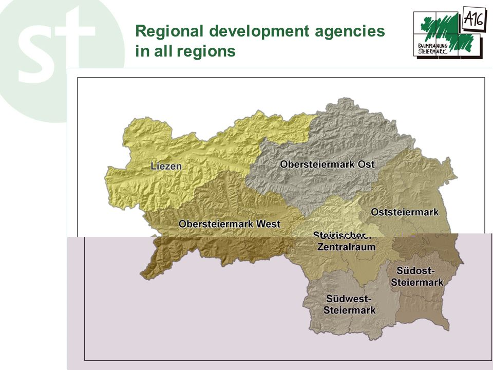 Regional development agencies in all regions