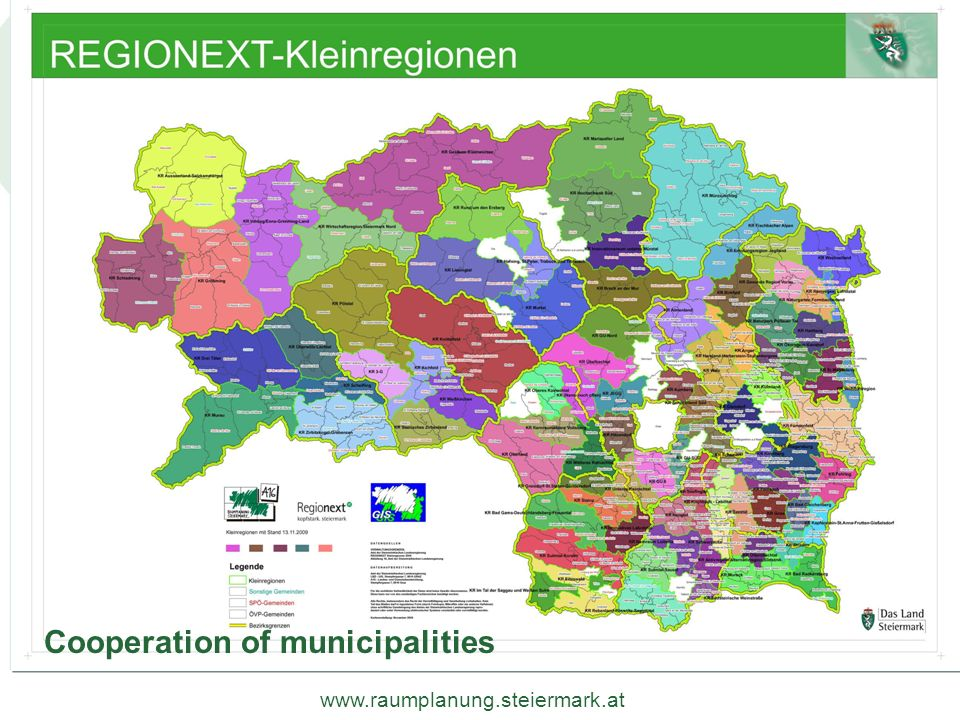 Cooperation of municipalities