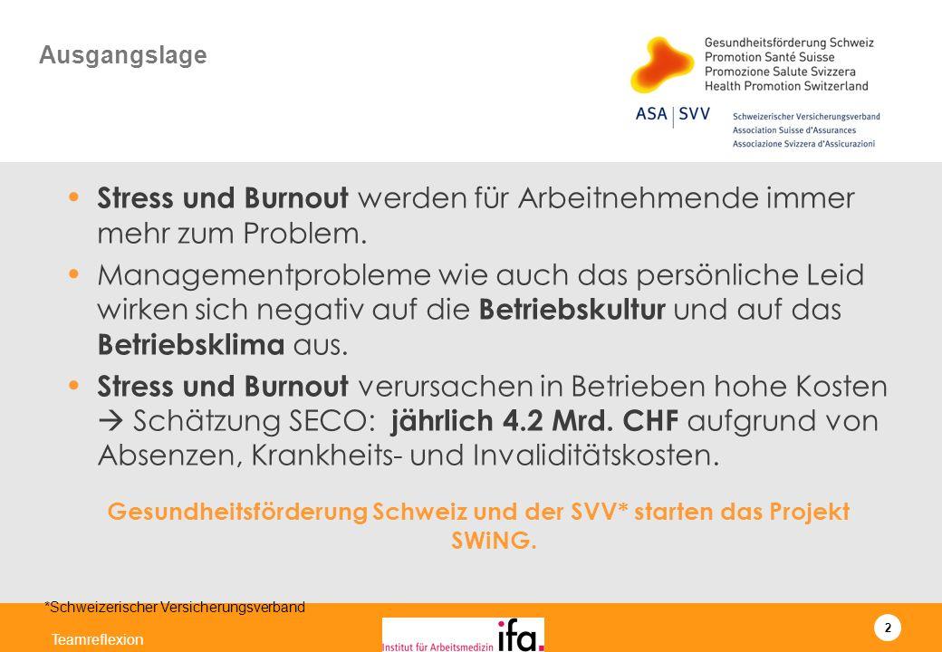 Gesundheitsförderung Schweiz und der SVV* starten das Projekt SWiNG.