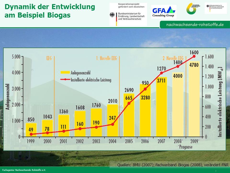 Dynamik der Entwicklung am Beispiel Biogas