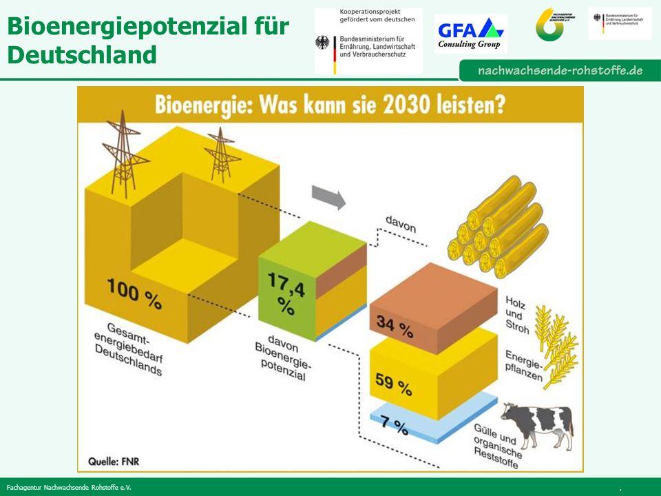 Bioenergiepotenzial für Deutschland