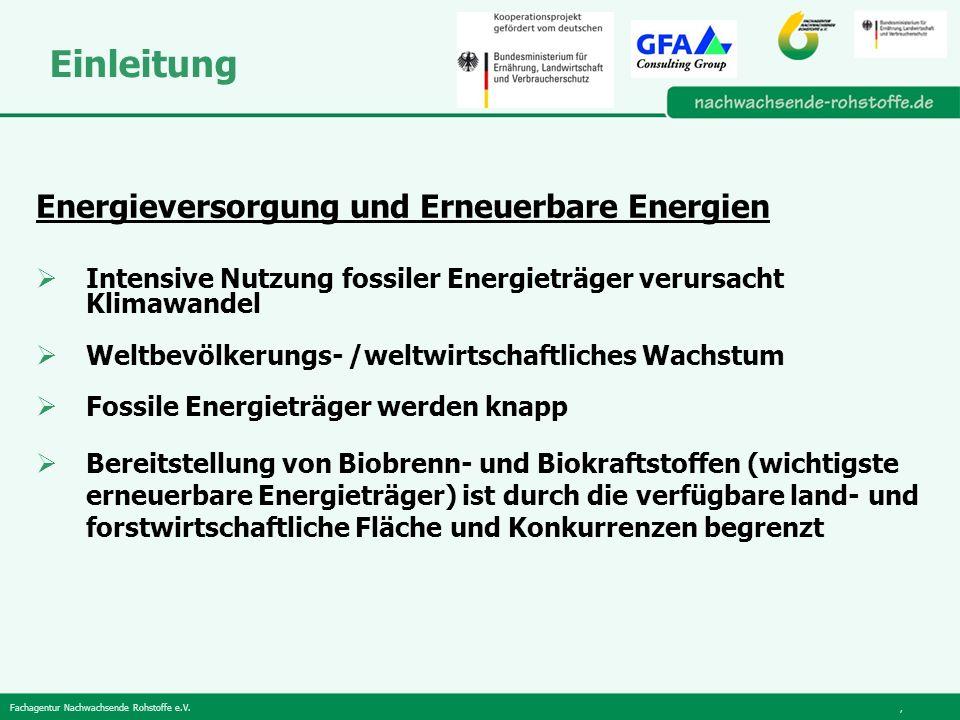 Einleitung Energieversorgung und Erneuerbare Energien