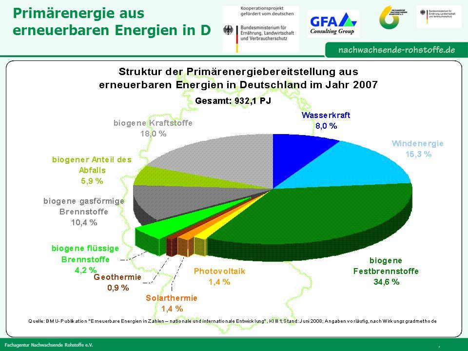 Primärenergie aus erneuerbaren Energien in D