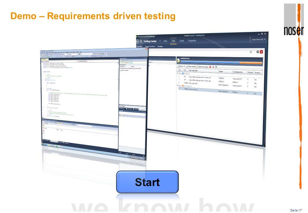 MTLM in der Praxis Tool für die Tester – MTLM. Welche Daten stehen dem Entwickler zur Verfügung – Test Settings.