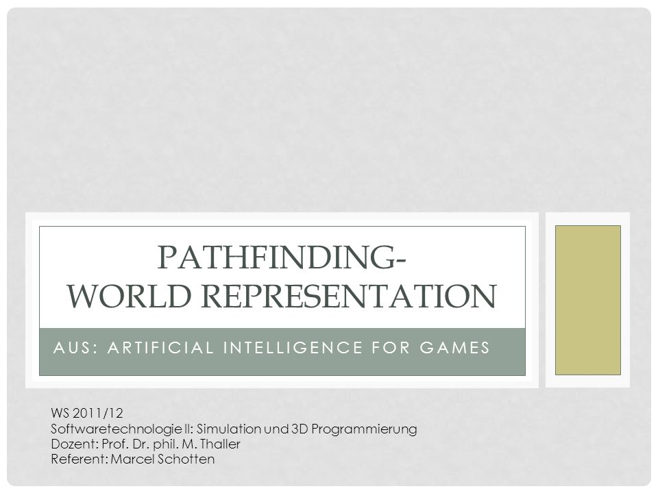 Pathfinding- World Representation