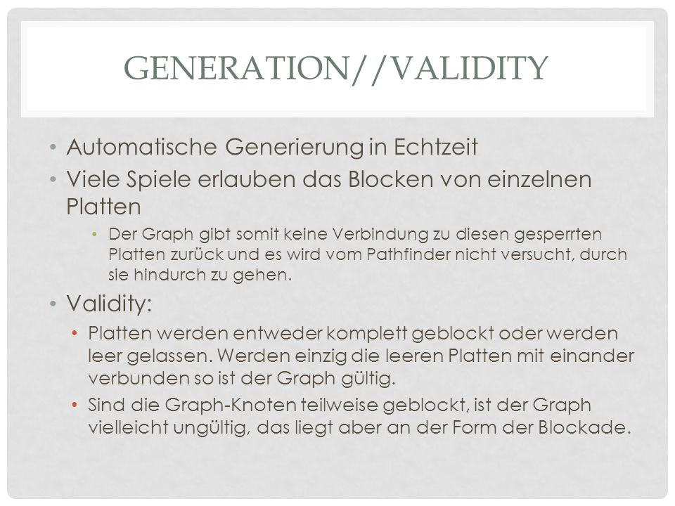 Generation//Validity