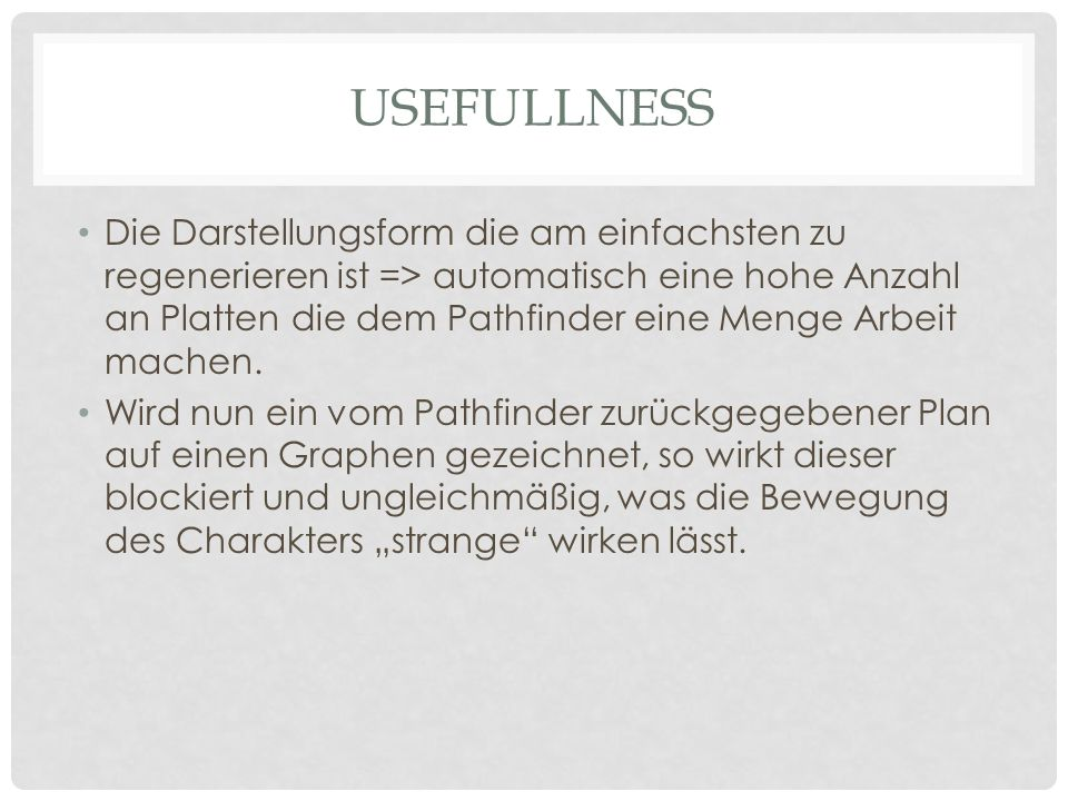 Usefullness