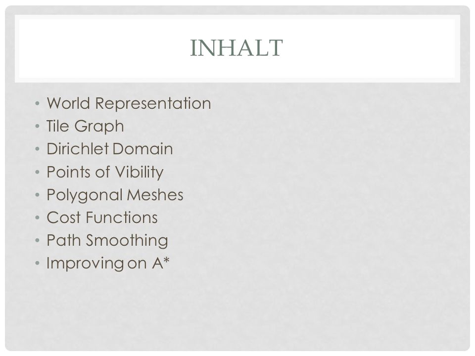 Inhalt World Representation Tile Graph Dirichlet Domain
