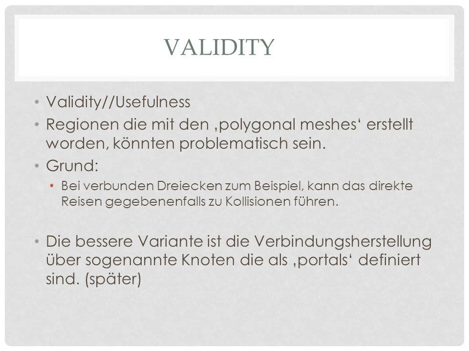 Validity Validity//Usefulness