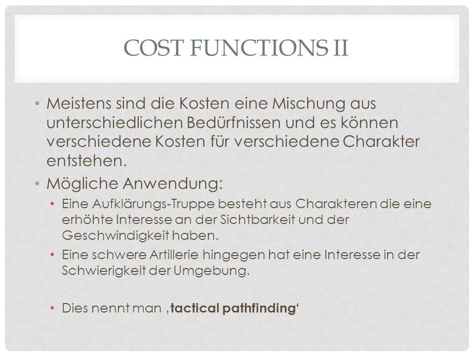 Cost functions ii