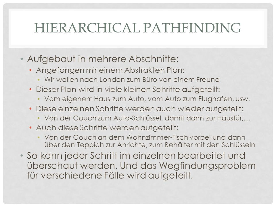 Hierarchical pathfinding